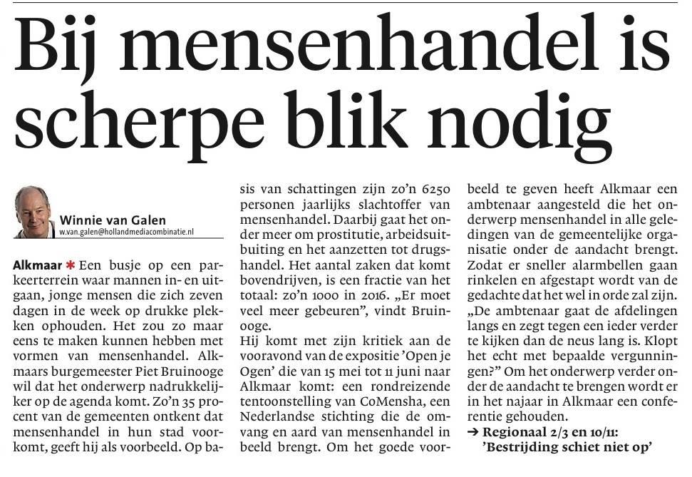 Mensenhandel Alkmaar Piet Bruinooge